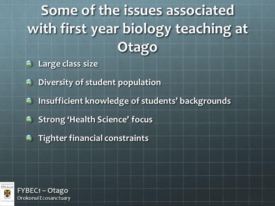 How did they do? FYBEC1 – Otago Orokonui Ecosanctuary FYBEC1 – Otago Orokonui Ecosanctuary