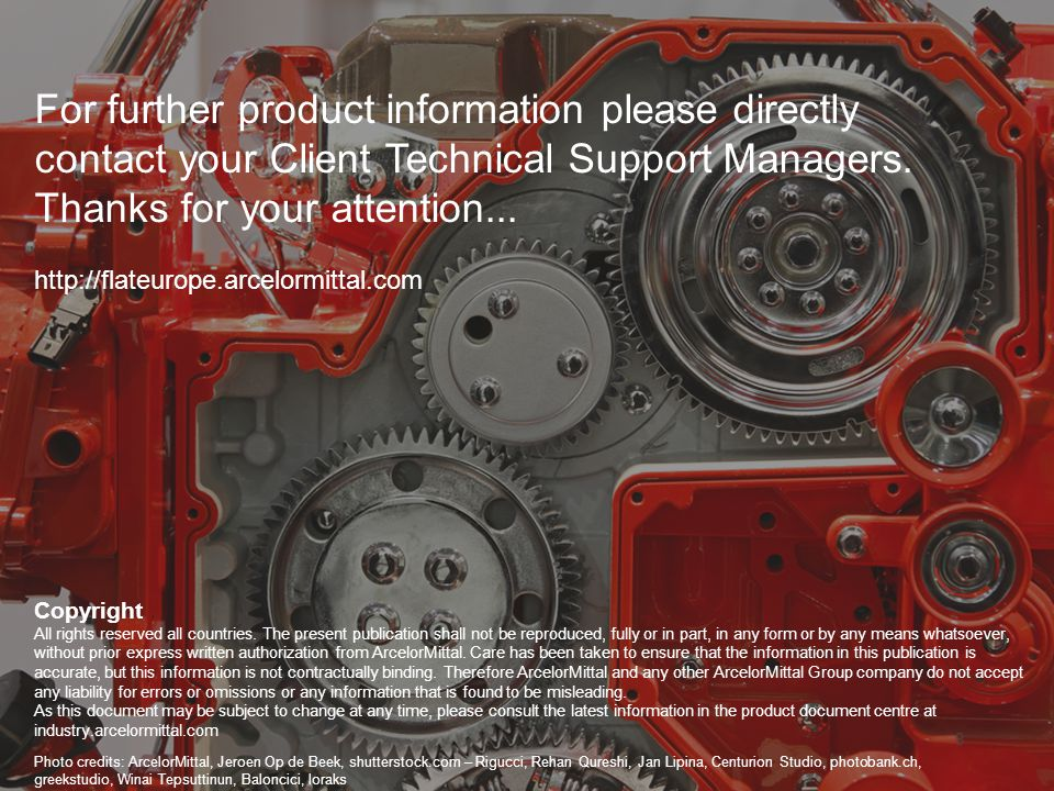 8 For further product information please directly contact your Client Technical Support Managers. Thanks for your attention... http://flateurope.arcel