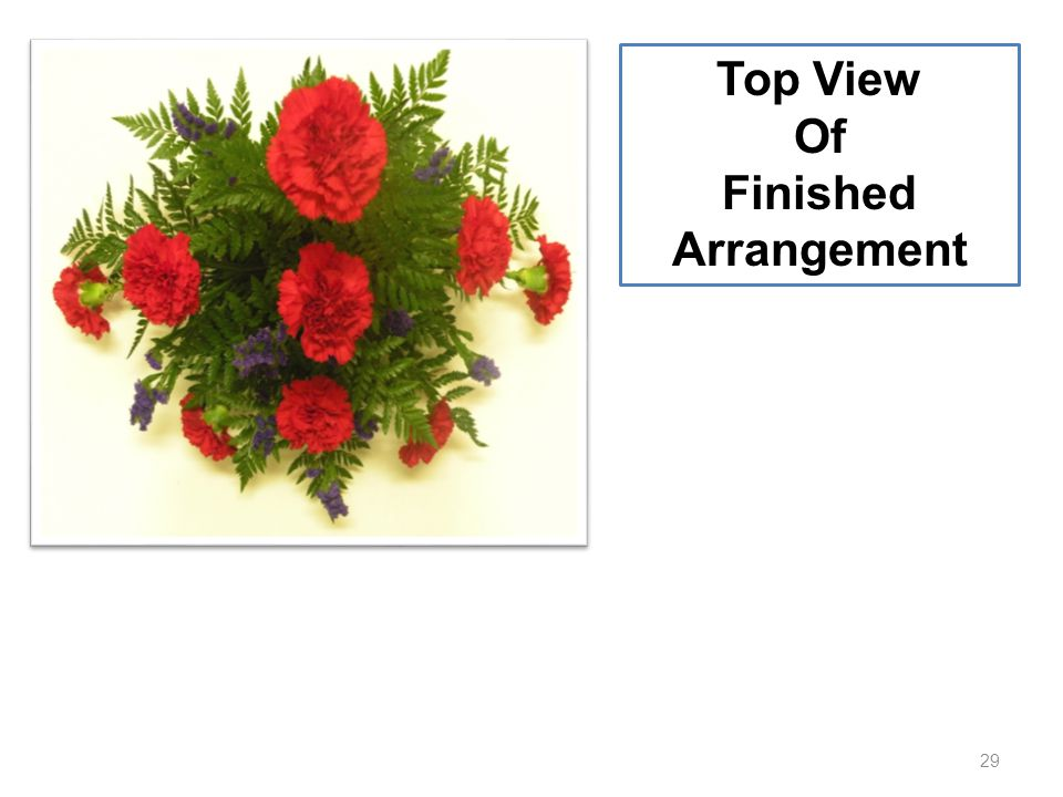 29 Top View Of Finished Arrangement