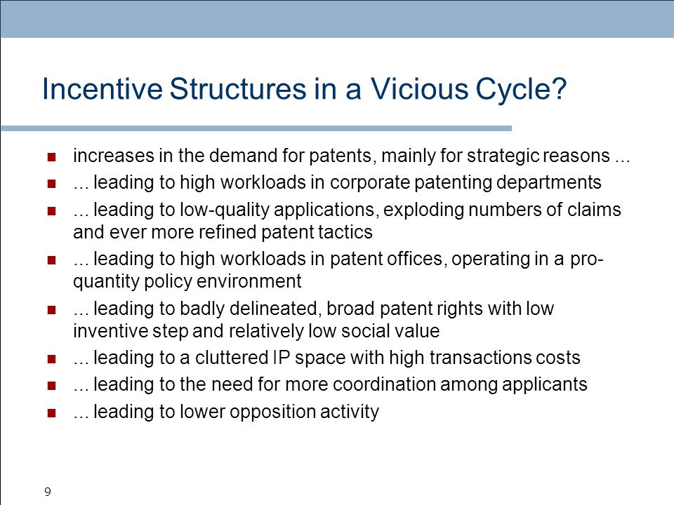 9 Incentive Structures in a Vicious Cycle.