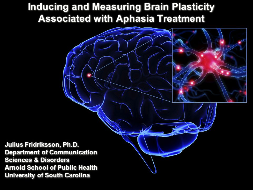 Inducing and Measuring Brain Plasticity Associated with Aphasia Treatment Julius Fridriksson, Ph.D.