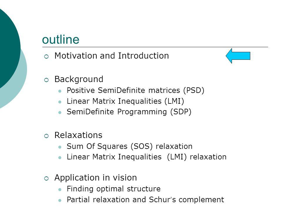 Motivation Geometric Reconstruction Problems Polynomial optimization problems (POPs)
