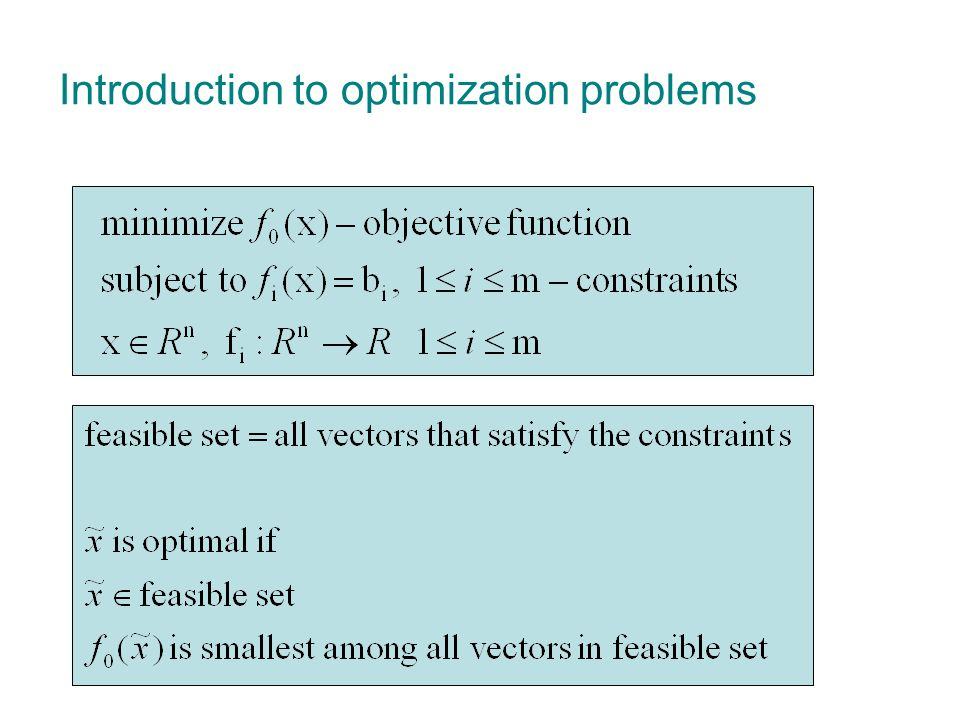 outline  Motivation and Introduction  Background Positive SemiDefinite matrices (PSD) Linear Matrix Inequalities (LMI) SemiDefinite Programming (SDP)  Relaxations Sum Of Squares (SOS) relaxation Linear Matrix Inequalities (LMI) relaxation  Application in vision Finding optimal structure Partial relaxation and Schur ' s complement