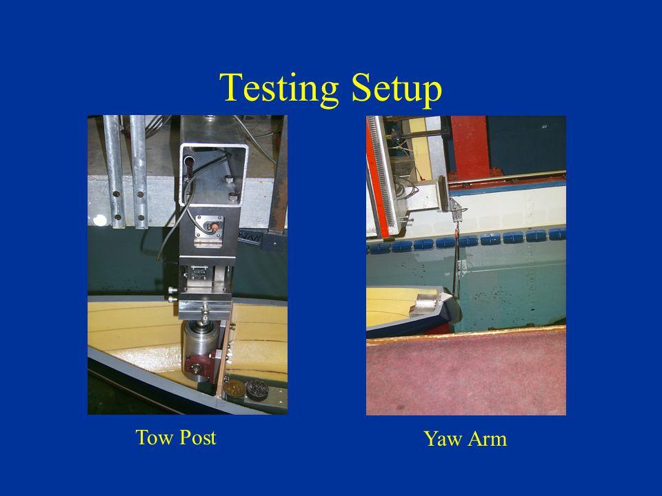 Testing Setup Tow Post Yaw Arm