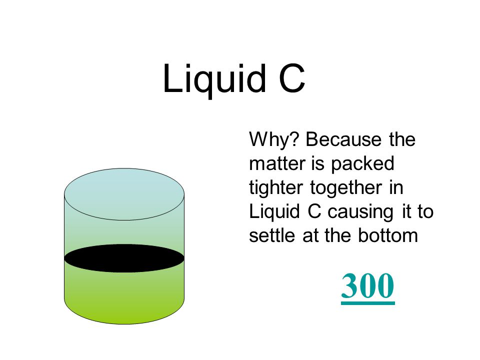 Which liquid has a greater density? Liquid A Liquid B Liquid C