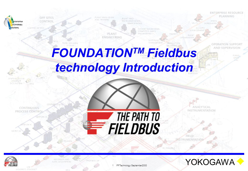 YOKOGAWA FFTechnology/September2000 1 FOUNDATION TM Fieldbus technology Introduction