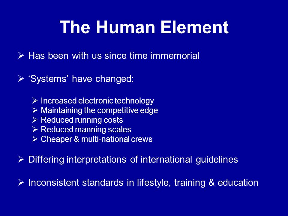  Has been with us since time immemorial  'Systems' have changed:  Increased electronic technology  Maintaining the competitive edge  Reduced runn