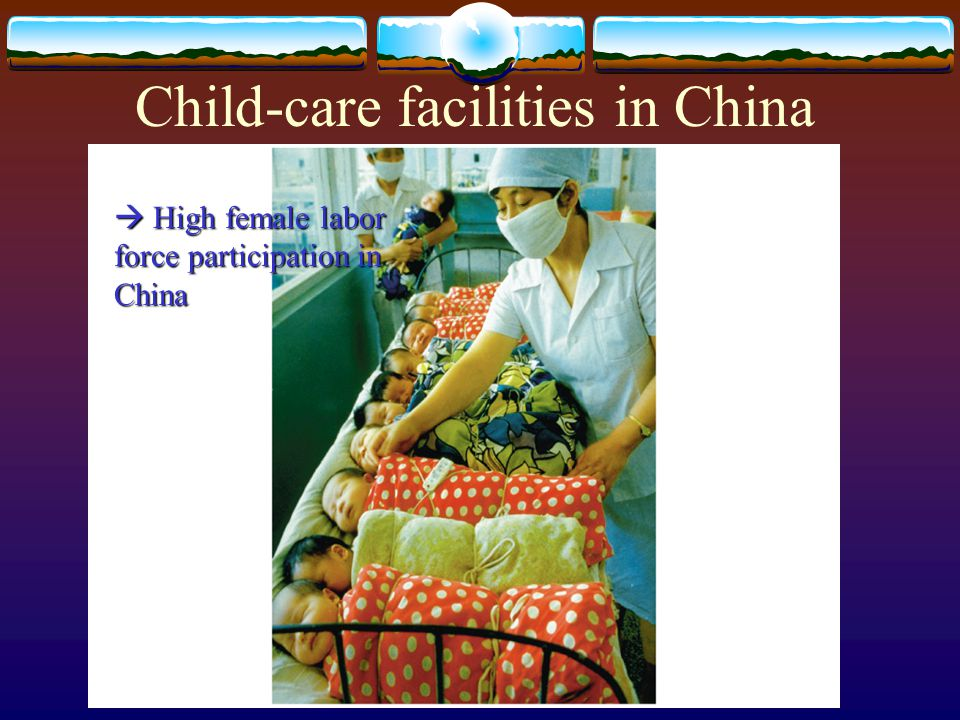 Child-care facilities in China  High female labor force participation in China