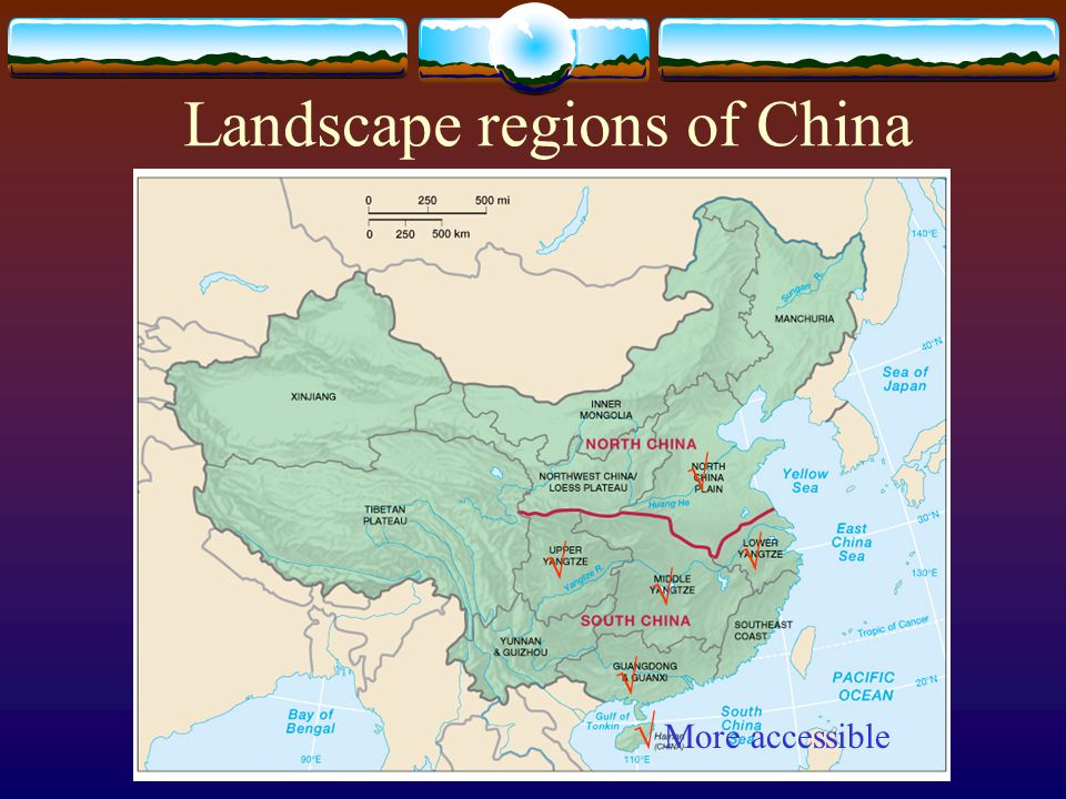 Landscape regions of China       More accessible