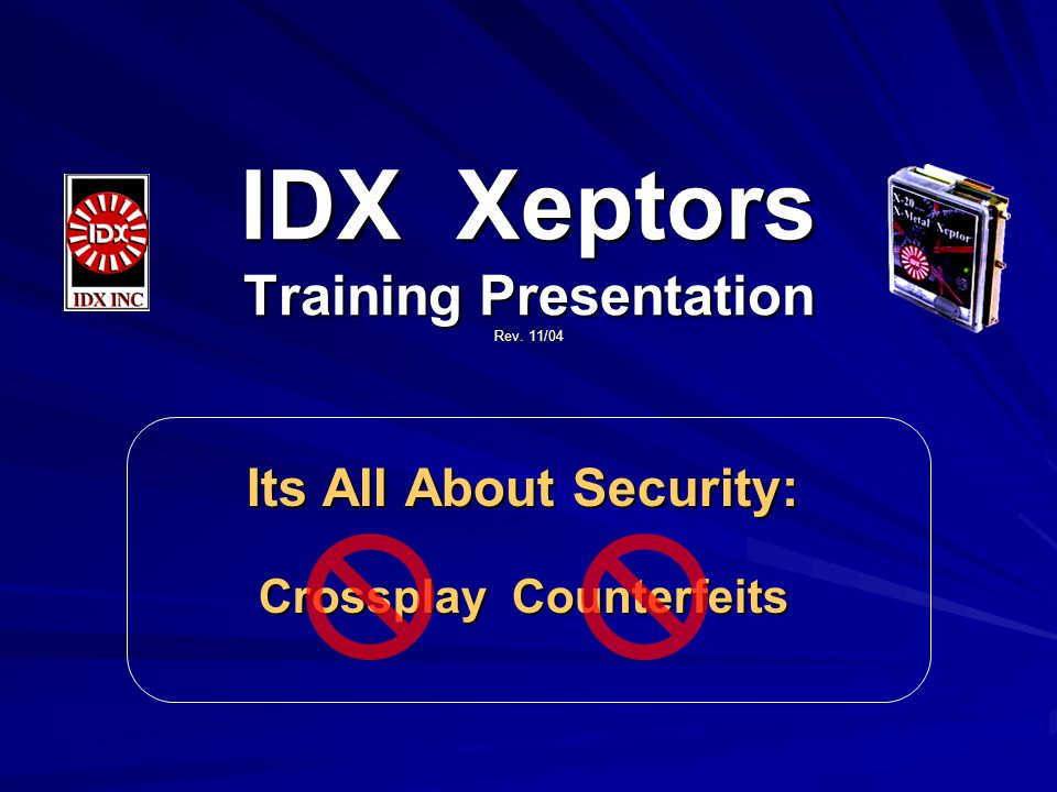 What Is This Training For.1.To Understand Crossplay & Counterfeiting Issues.