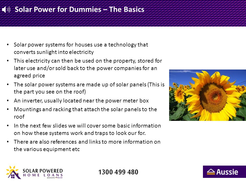 Solar Power for Dummies – Solar Panels We ll start out with a simple diagram that shows the basic building blocks of a solar array.