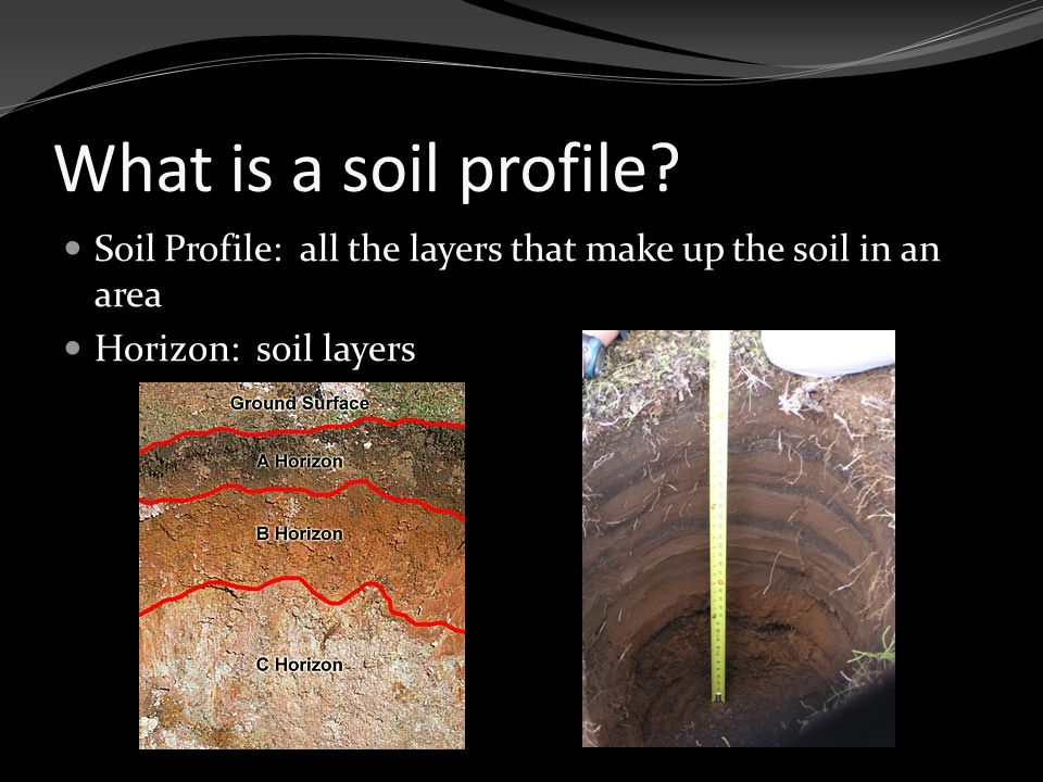 What is a soil profile.