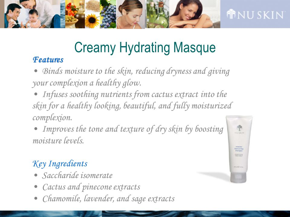 Features Binds moisture to the skin, reducing dryness and giving your complexion a healthy glow.