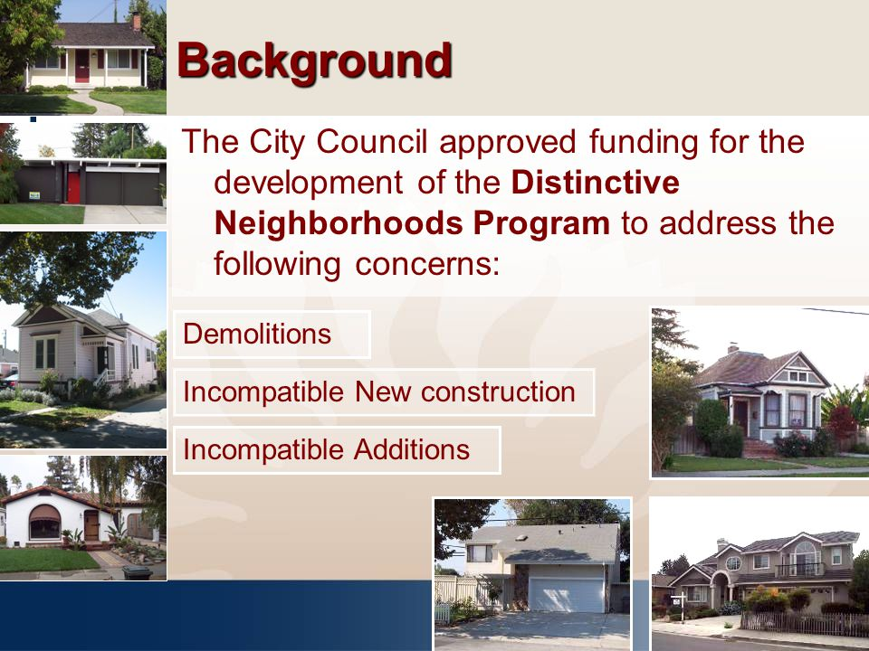 Policy Analysis – Neighborhood Specific Toolkit Option 2 – Distinctive Neighborhood Zoning Overlay Criteria for Designation: Agreement of 2/3 of property owners.