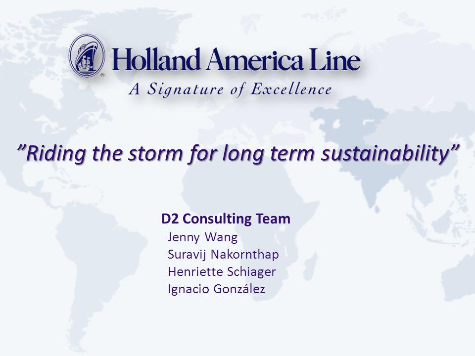 Riding the storm for long term sustainability D2 Consulting Team Jenny Wang Suravij Nakornthap Henriette Schiager Ignacio González