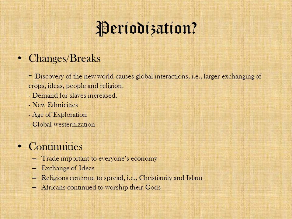 Periodization.