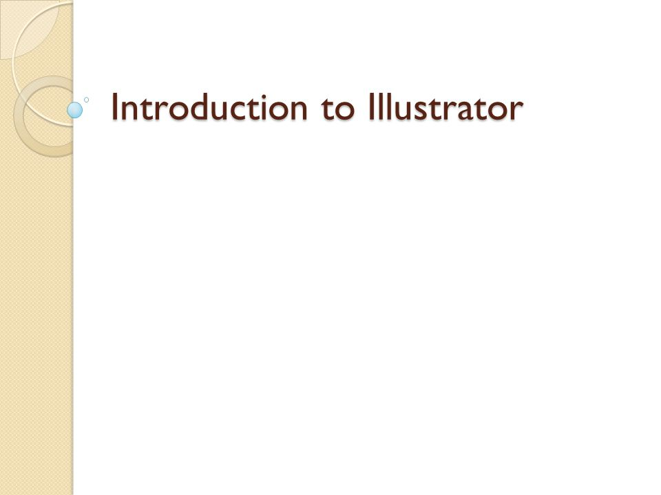 Introduction to Illustrator