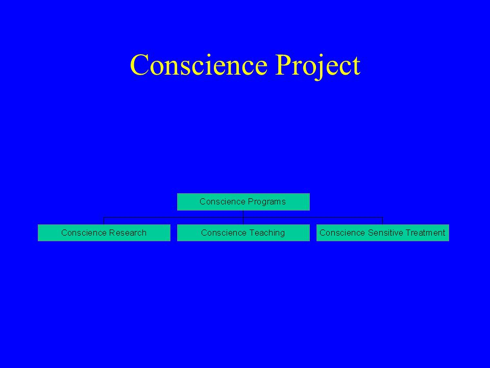 CSIT(cont'): Psychiatric Benchmarks of conscience activity using the valuational matrix –violating behaviors and domination by survivalist valuation –valuation and substances – valuations and sexuality –suicidality and the suspension of life affirming valuation