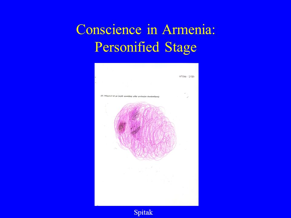 Conscience in Armenia: Personified Stage Spitak