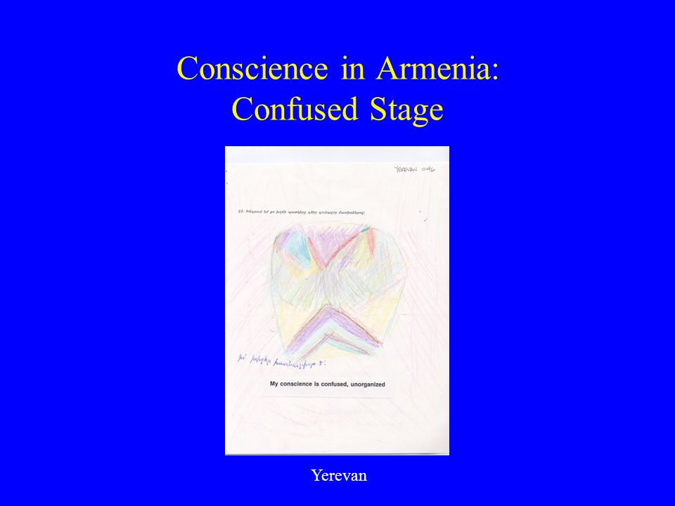 Conscience in Armenia: Confused Stage Yerevan