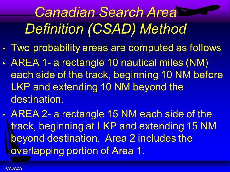 CASARA Canadian Search Area Definition