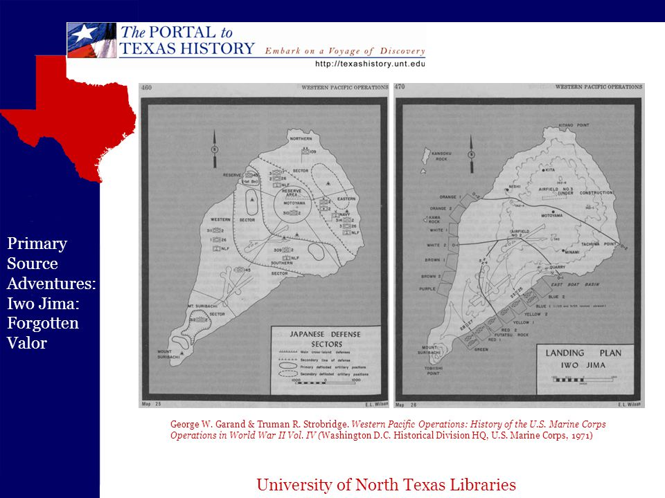 University of North Texas Libraries Primary Source Adventures: Iwo Jima: Forgotten Valor George W.
