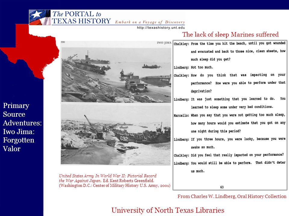 University of North Texas Libraries Primary Source Adventures: Iwo Jima: Forgotten Valor From Charles W.