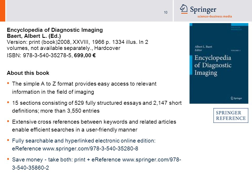 10 Encyclopedia of Diagnostic Imaging Baert, Albert L.