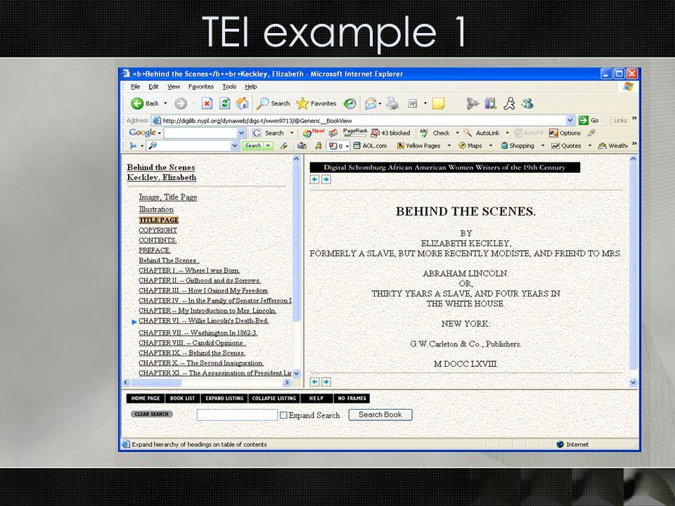 TEI example 1