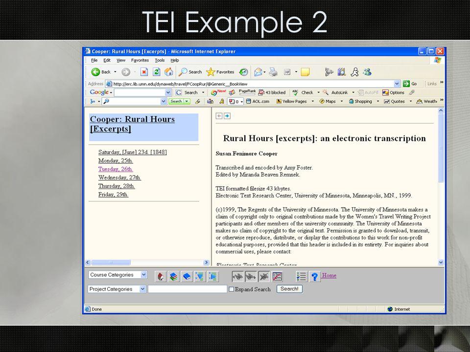 TEI Example 2