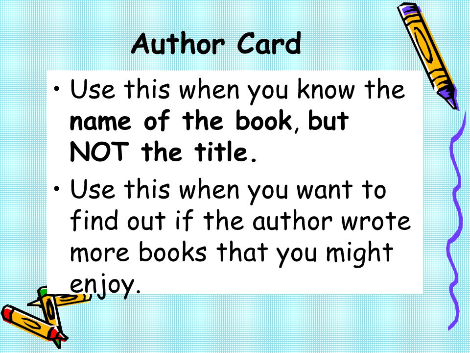 Author Card