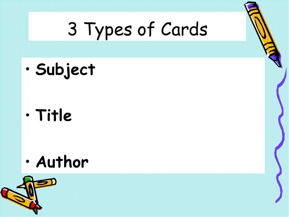 If you know who wrote a book, but not the title? Author Card