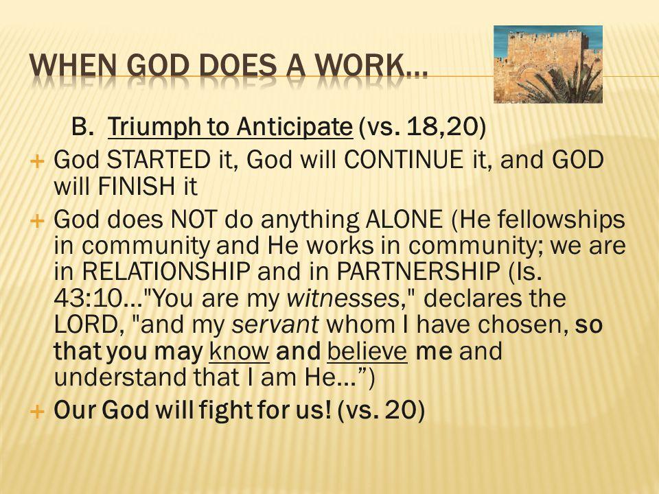 B. Triumph to Anticipate (vs.