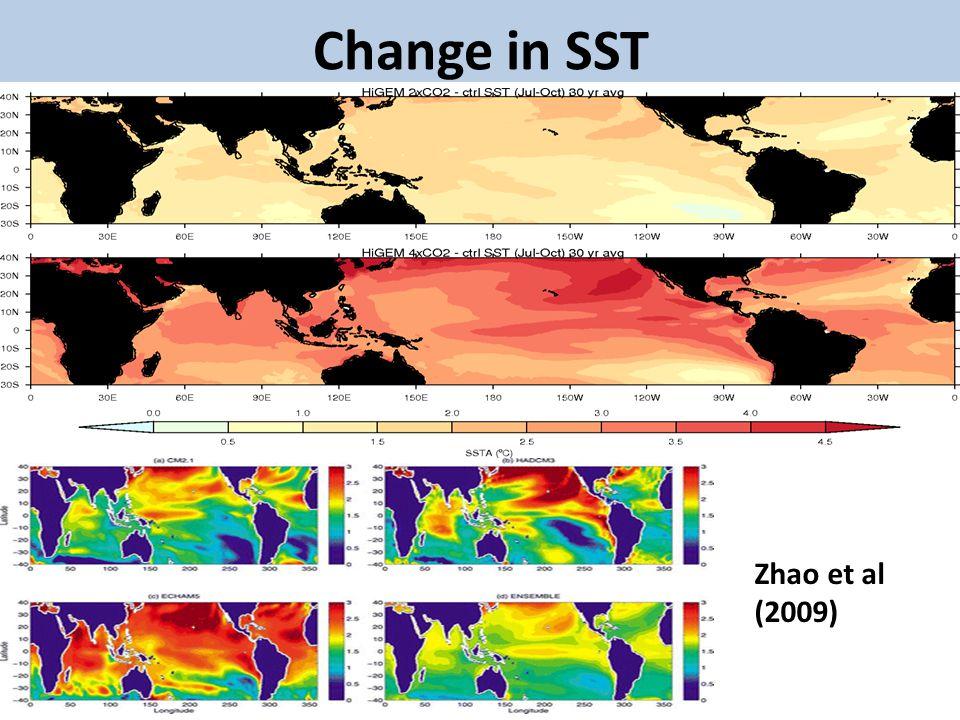 Change in SST Zhao et al (2009)