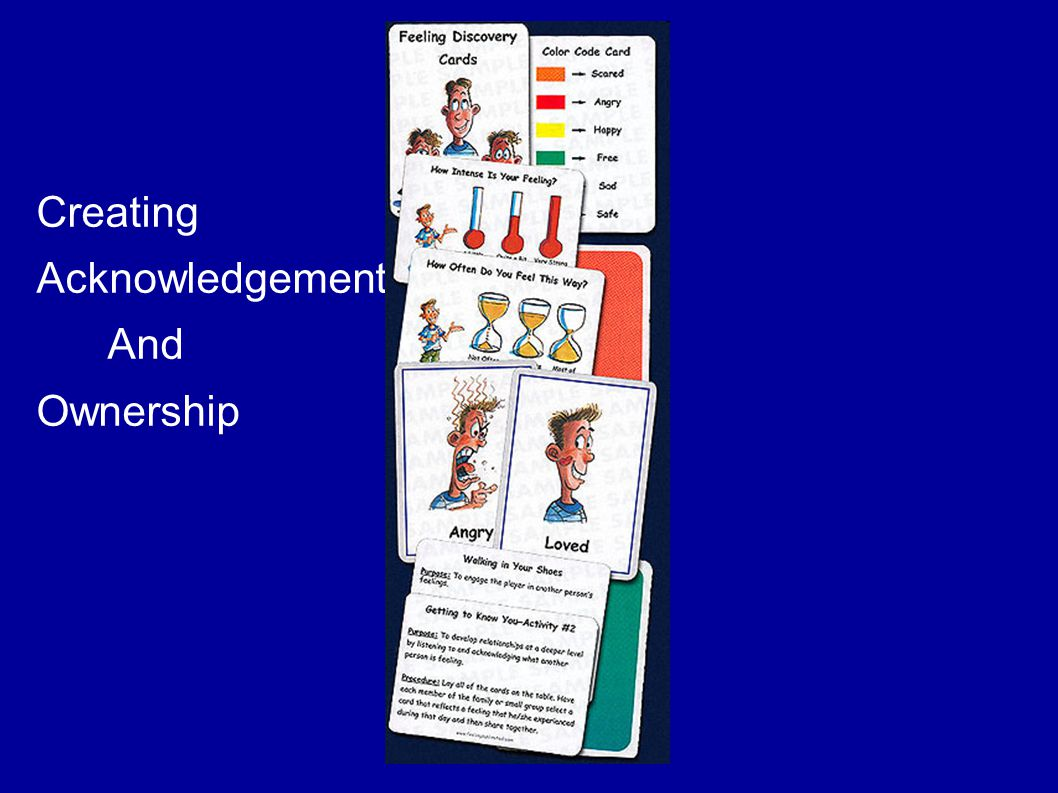 Creating Acknowledgement And Ownership