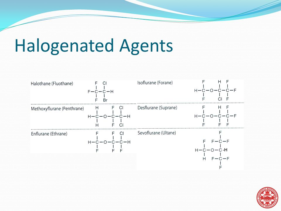 Halogenated Agents