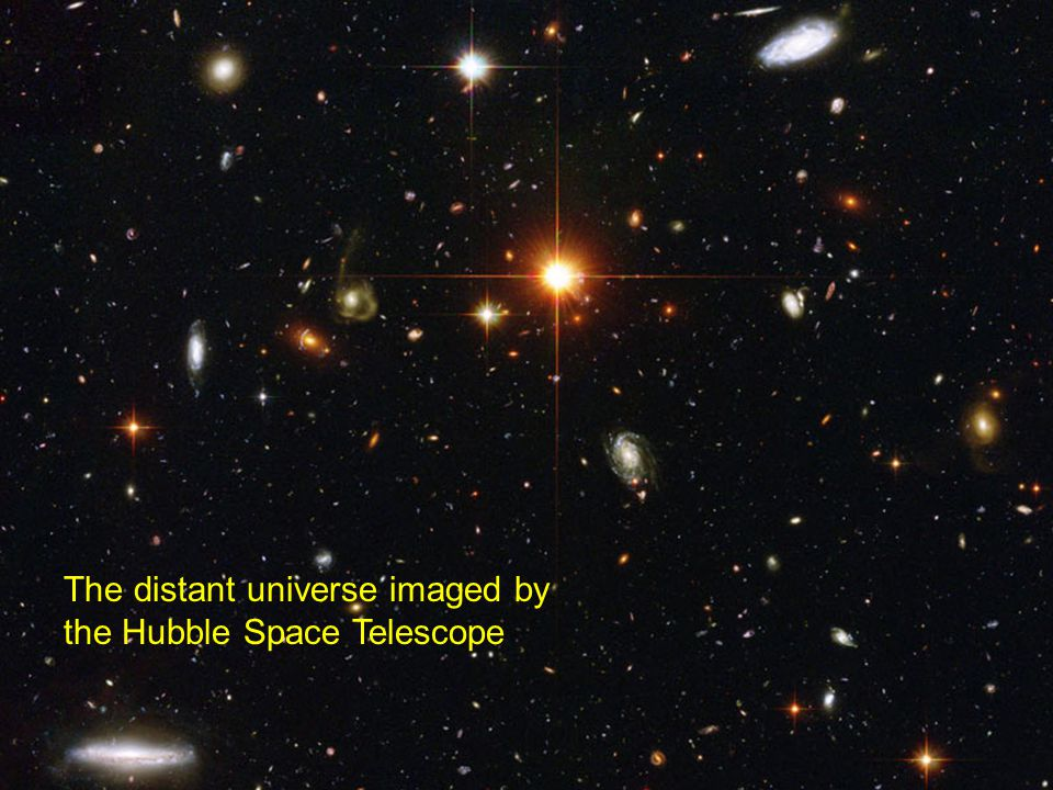 The distant universe imaged by the Hubble Space Telescope
