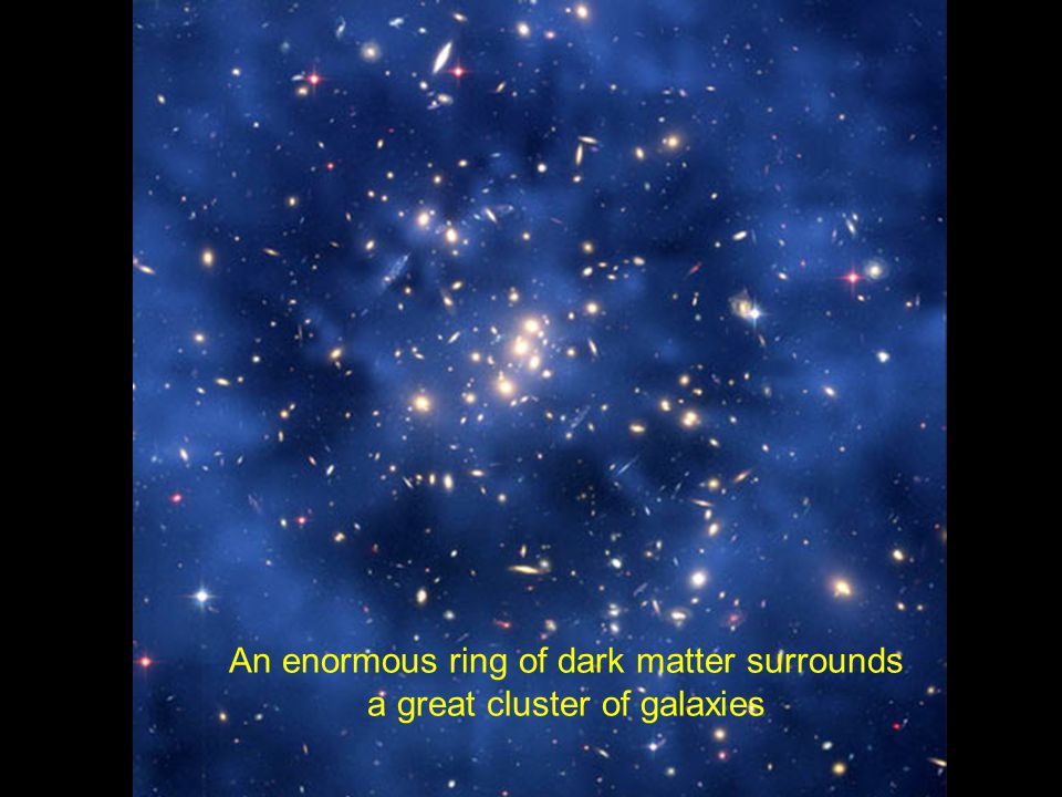 An enormous ring of dark matter surrounds a great cluster of galaxies