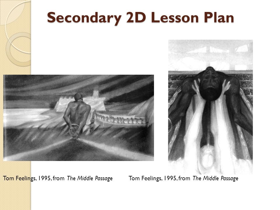 Secondary 2D Lesson Plan Tom Feelings, 1995, from The Middle Passage
