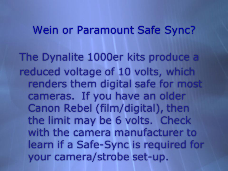 Wein or Paramount Safe Sync.
