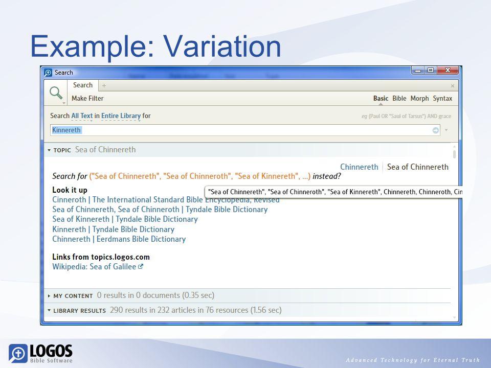 Example: Variation