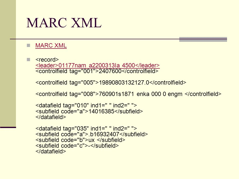 MARC XML 01177nam a2200313Ia 4500 2407600 19890803132127.0 760901s1871 enka 000 0 engm 14016385.b16932407 ux - 01177nam a2200313Ia 4500