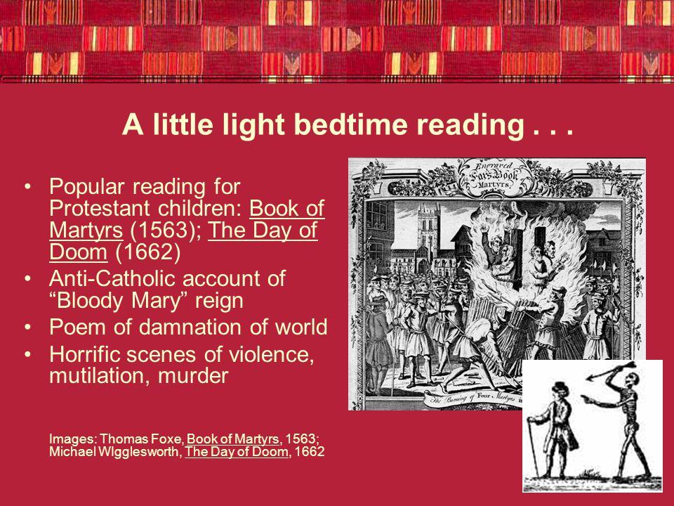 A little light bedtime reading...