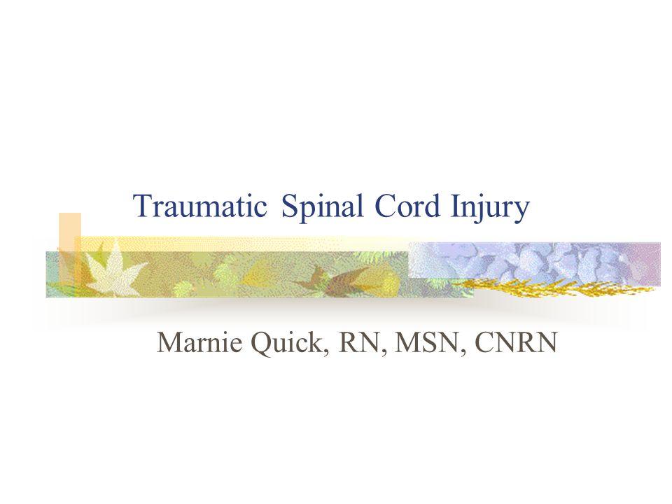 Traumatic Spinal Cord Injury Marnie Quick, RN, MSN, CNRN