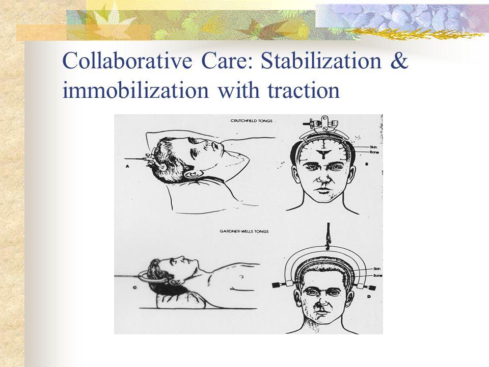 Collaborative Care: Stabilization & immobilization with traction