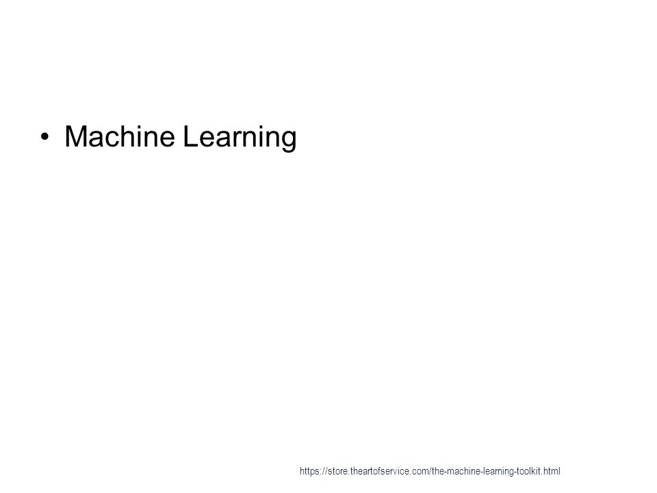 List of machine learning algorithms - Supervised learning 1 * Inductive logic programming https://store.theartofservice.com/the-machine-learning-toolkit.html