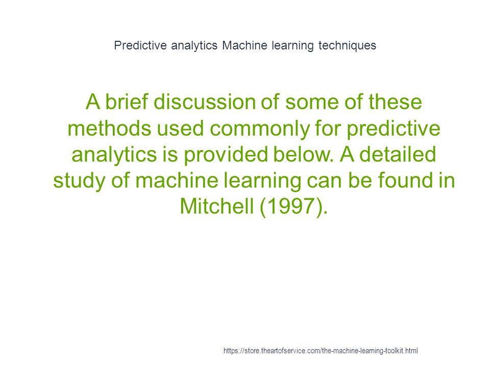 Classification in machine learning - Application domains 1 Classification has many applications.