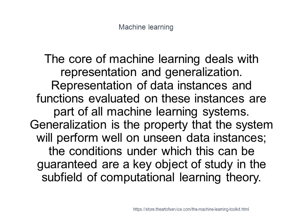 Machine learning 1 There is a wide variety of machine learning tasks and successful applications.