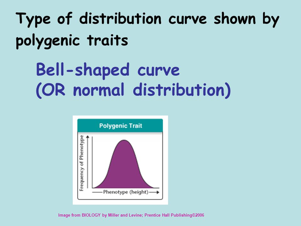 The effect of natural selection when individuals near the center of a normal curve of distribution have higher fitness than those at the extremes Stabilizing selection Image from BIOLOGY by Miller and Levine; Prentice Hall Publishing©2006