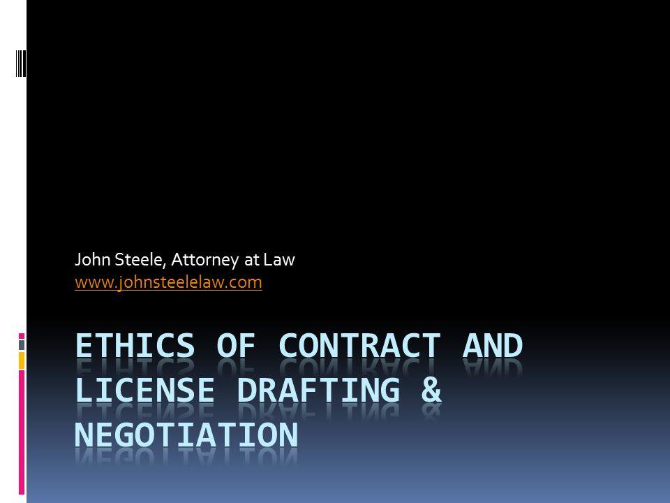 John Steele Attorney at Law www.johnsteelelaw.com john.steele@johnsteelelaw.com 650-320-7662 (USA) © John Steele 2011
